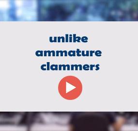 unlike ammature clammers
