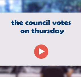 the council votes on thursday