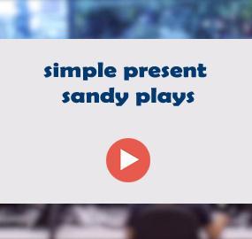 simple present sandy plays