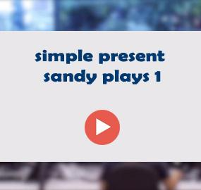 simple present sandy plays 1