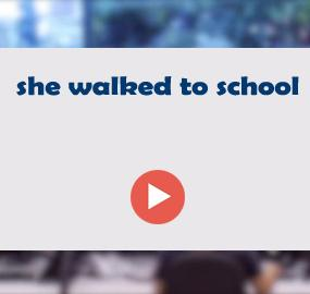 she walked to school