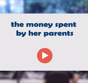 the money spent by her parents