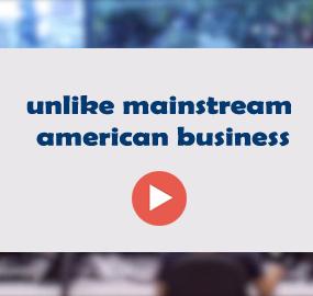 unlike mainstream american business